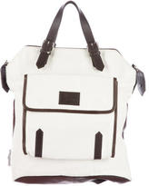 Christian Louboutin Leather-Trimmed Canvas Backpack