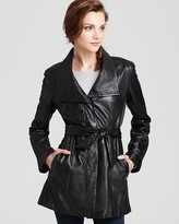 Marc New York Leather Trench