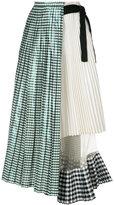 Toga gingham-print pleated skirt
