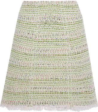 Giambattista Valli Frayed Cotton-blend Tweed Skirt