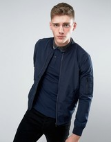 Jack & Jones Core Ma1 Bomber Jacket In Lightweight