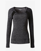 Express marled EXP core mesh inset cowl back t-shirt