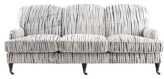 "Imagine Home Edith 84"" Wide Cotton Recessed Arm Sofa Fabric: Solid Indigo 100% Cotton"