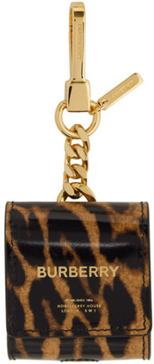 Burberry Black and Brown Earphone Keychain Case