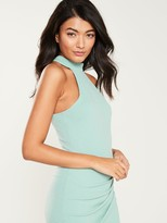 AX Paris High Neck Bodycon Dress - Duck Egg