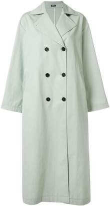 Jil Sander Navy double breasted trench coat