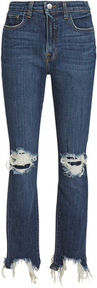 L'Agence Highline Distressed Skinny Jeans