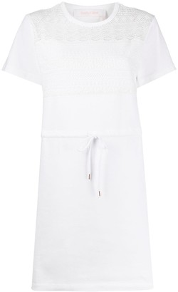 See by Chloe lace T-shirt dress