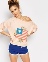 Wildfox Couture Granny's Flag Sweater