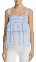Rebecca Minkoff Coral Tiered Gingham Top