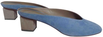 Gray Matters Blue Suede Mules & Clogs