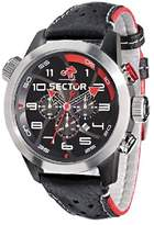 oversized watches for men shopstyle uk sector oversize men s watch chronograph black dial and leather strap r3271602125