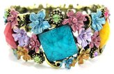 Hera Fashion Luxury Multicolor Flower Bangle Cuff Bracelet
