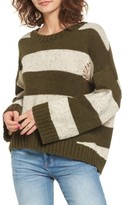 BP Women's Distressed Stripe Pullover