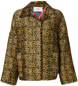 La DoubleJ Motorino foliate-embroidered jacket