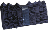 Satin Ruffle and Sequin Band Clutch