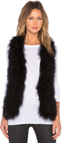 Generation Love Marisa Marabou Feather Vest