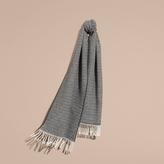 Burberry Chunky Herringbone Wool Cashmere Scarf