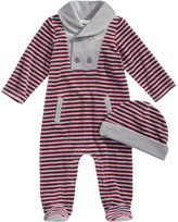 First Impressions 2-Pc. Hat & Striped Footed Coverall Set, Baby Boys (0-24 months), Created for Macy's