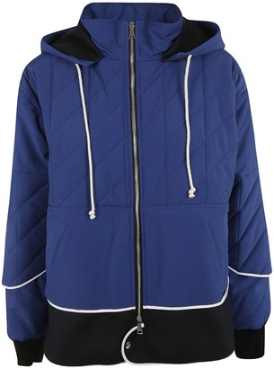 Plan C Quilted Effect Zipped Jacket