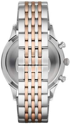 Emporio Armani Beta Two-Tone Stainless Steel Bracelet Chronograph Watch