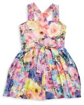 Helena and Harry Toddler's & Little Girl's Floral Printed Linen Dress
