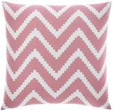 Nautica Bell Point Pink Chevron Throw Pillow
