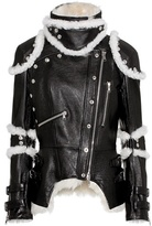 Alexander McQueen Shearling-trimmed leather jacket