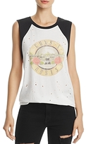 Daydreamer Distressed Color-Block Graphic Tank