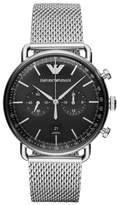 Emporio Armani Chronograph Mesh Strap Watch, 43mm