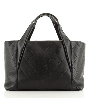 Chanel All Day Long Tote Chevron Leather Medium