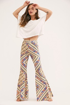 We The Free Just Float On Printed Flare Jeans by at Free People