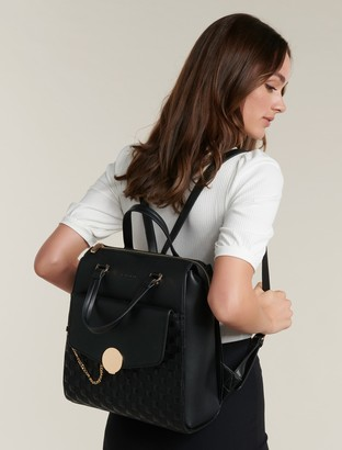 Forever New Mona Quilted Laptop Backpack - Black - 00