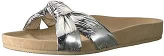 Loeffler Randall Women's Gertie (Metallic Foiled Leather) Flat Sandal M US