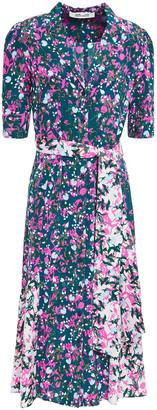 Diane von Furstenberg Floral-print Silk Crepe De Chine Shirt Dress