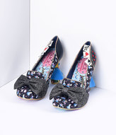 Irregular Choice Black Wonderland This Way Alice Heels