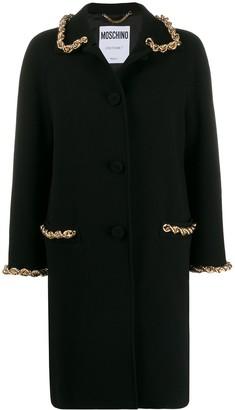 Moschino Chain-Trim Single-Breasted Coat