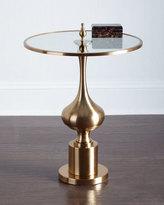 Chryssa Glass-Top End Table
