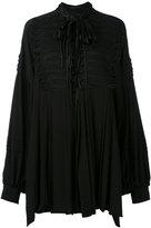 Ermanno Scervino frogging detail oversized blouse - women - Silk - 38