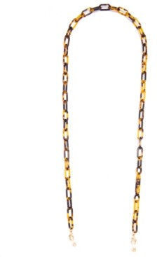 """Zenzii Gold-Tone Color-Coated Link Eyeglass Holder 30"""""""