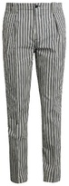 Etro Stripe-print Cotton-blend Trousers