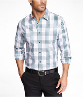 Express Fitted Plaid Shirt