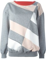 Stella McCartney diagonal line sweatshirt - women - Silk/Cotton/Polyamide/Viscose - 40