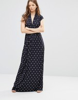French Connection Maxi Dress in Pink Stars