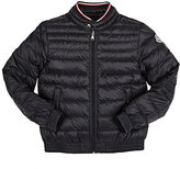 Moncler LONG SEASON DOWN-QUILTED COAT-NAVY SIZE 8