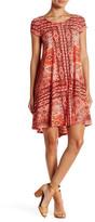 Karen Kane Sagebrush Print Trapeze Dress