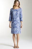 J. Jill Linen floral 3/4-sleeve dress