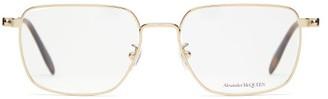 Alexander McQueen D-frame Metal And Tortoiseshell-acetate Glasses - Mens - Gold