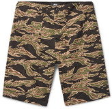 Stussy Military Camouflage-Print Cotton-Seersucker Shorts
