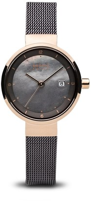 Bering Womens Analogue Solar Powered Watch with Stainless Steel Strap 14426-265